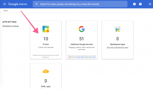 Click G-Suite inside Google Apps