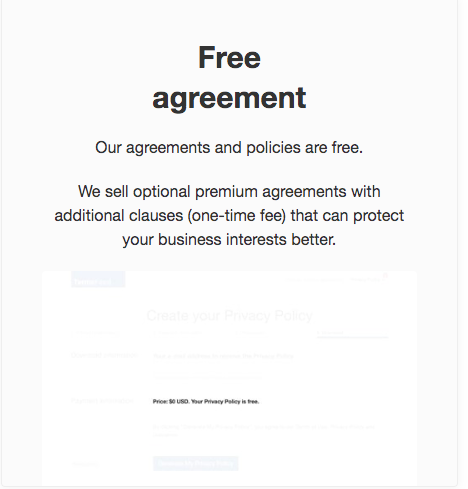 termsfeed review for free agreement