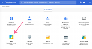 Set up Catch-All Email in G-suite by heading to Apps.