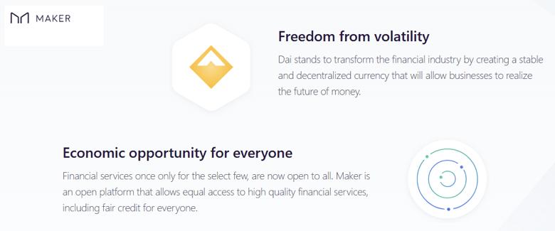Maker blockchain volatility