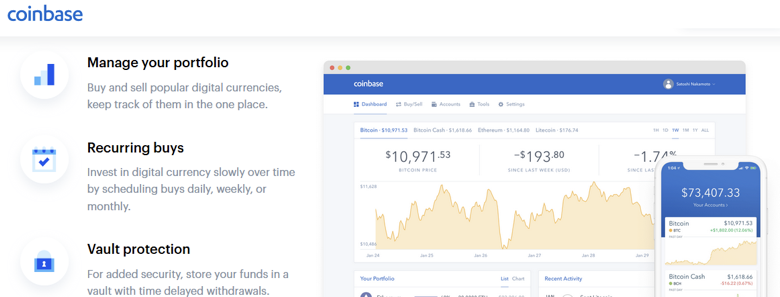 Coinbase cryptocurrency purchases